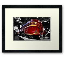 Streamlined for speed Framed Print