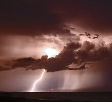 Inlet Lightning by Larry  Grayam