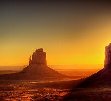 Monument Valley - Sunrise by Ted Lansing
