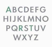 Art alphabet top by Scott Barker