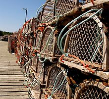 Wooden Lobster Traps by RevJoc