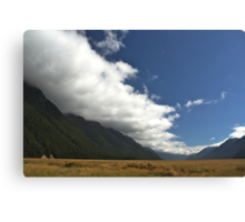 Inversion Layer in New Zealand Canvas Print
