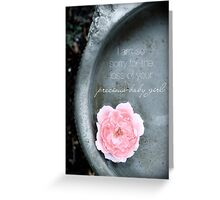 Loss of a Precious Baby Girl Greeting Card
