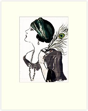 Gloria Swanson Portrait  by Trish Loader