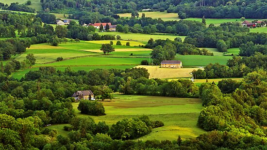 French rural landscape in Haute Savoie by Patrick Morand