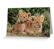 Out of Africa - Lean on Me Greeting Card