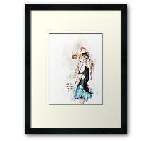 Blue skirt Framed Print