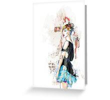 Blue skirt Greeting Card