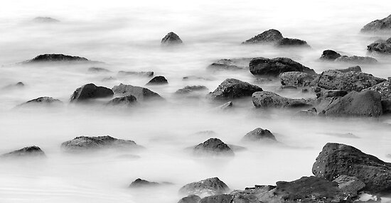 Boulders in the mist. by vilaro Images