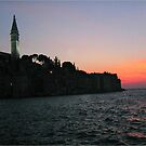 Sun sets over Rovinj by machka