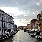 Sunset Over a Canal in Venice by danielmarcus