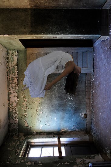 """Histoire des Mentalités""(Self Portrait), Abandoned Asylum by MJD Photography  Portraits and Abandoned Ruins"