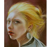 The girl with a silver earring Photographic Print