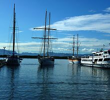 Tall Shipping in Port Denaru, Fiji by Keith Richardson