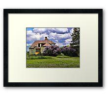 Plains Pioneer Home Framed Print