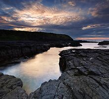 Winters Dawning on Basalt Coast by Robert Mullner