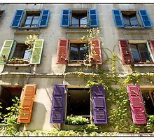 Shutters, Geneva, Switzerland. by Madeleine Marx-Bentley