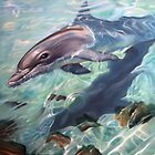 """""""Inquisitive - The Bottlenose Dolphin"""" by Michelle Caitens"""