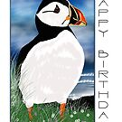 Puffin Birthday Greeting Card by Moonlake