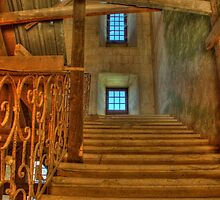 Staircase at Chateau de Biron by Nigel Jones