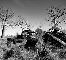 Old Utes in Monochrome by Mark Ingram Photography