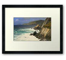 Where the mountains meet the sea Framed Print