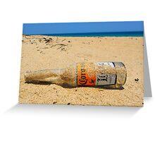 Hard day at the Beach Greeting Card