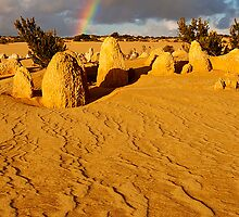 Nambung National Park Pinnacles Rainbow 1p by Jaxybelle