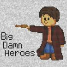 Pixelart of Malcolm Reynolds from Firefly by cascaid