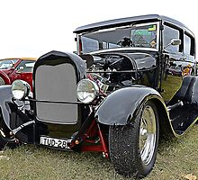 Black 1928 Model A Tudor by odarkeone