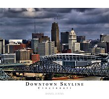 Downtown Cincinnati Skyline in HDR - Poster by Daniel Justes