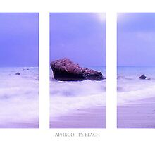 Blue Horizon Triptych by Aj Finan