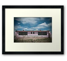Old Pink Schoolhouse Framed Print