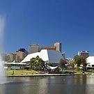 Adelaide Festival Centre, Convention Complex, and River Torrens by John Mitchell
