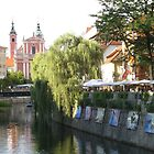 River Art in Ljubljana  by machka