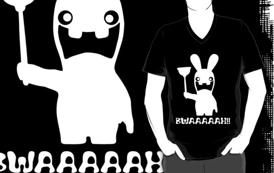 Rabbid in white by grrARGH