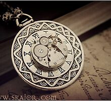 Neo Victorian Steampunk Gothic Necklace. by SKAIOR Designs