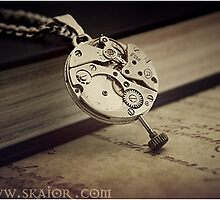 Gothic Industrial Steampunk Necklace. by SKAIOR Designs