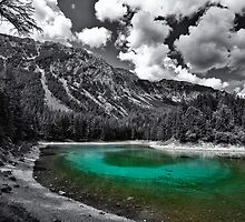 green cold mountain lake - selective colour by Klaus Brandstaetter