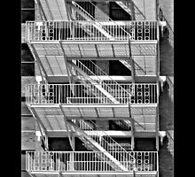 Fire Escapes - Portland, Maine by Peter  Thomas