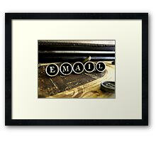 Email - Brown Framed Print