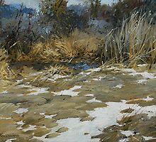 Last snow. by Guennadi Kalinine