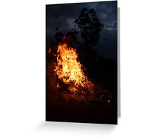 Fire on the Hill Greeting Card