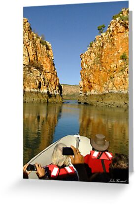 Tourists at Horizontal falls by Julia Harwood