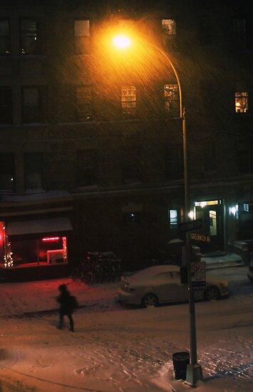 Snow on Greenwich  by simtmb