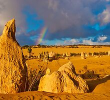 110618 Nambung National Park Pinnacles Rainbow 4 by Jaxybelle