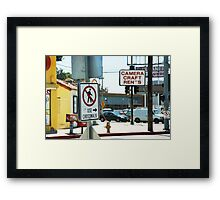 Crosswalk Hollywood CA Framed Print
