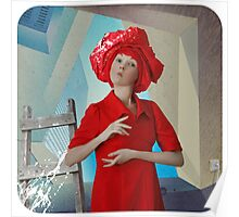 Abstract thinking of a girl named Rose about postmodernism in architecture) Poster