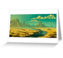 Sunset on savannah Greeting Card
