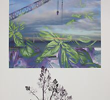 Printmaking: Parsley and Basil by Marion Chapman